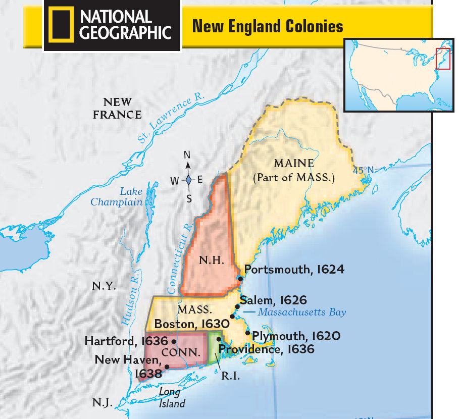 New England Colonies Facts History Government