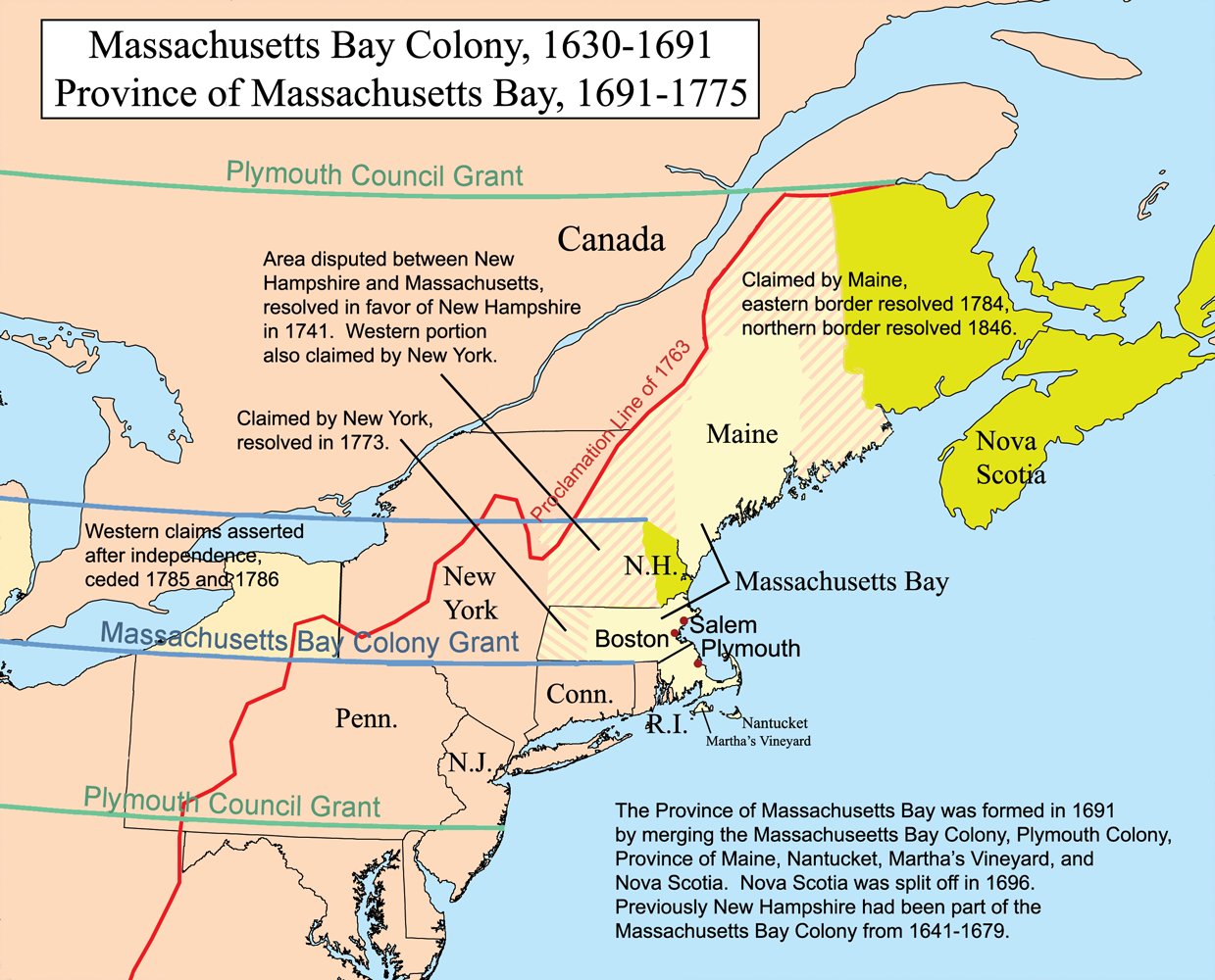 an introduction to the history of the massachusetts bay company The massachusetts bay company agreed, and in 1630 john winthrop, the newly-elected governor, brought another 1,000 settlers to massachusetts thomas dudley was made deputy governor winthrop initially landed at salem, but he subsequently moved to the south and established boston, which became the capital of massachusetts.
