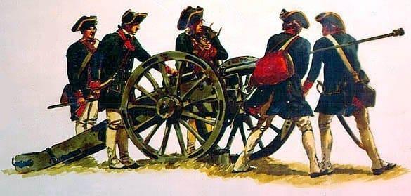 Canhões na Revolução Americana